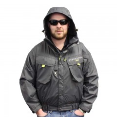 Fishing wading jacket waterproof Taslon fleece lined pockets